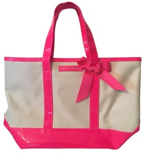 Juicy Couture 302626035055 Handbag Shopper Tote in Whte and Pink