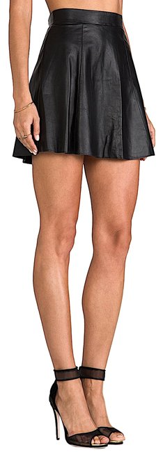 Item - Black with Tag The Bowery Leather Skirt Size 12 (L, 32, 33)
