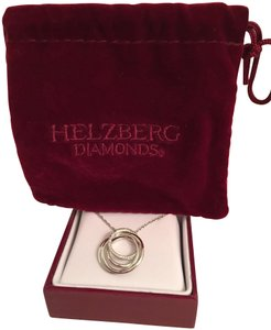 Helzberg Diamonds NWT Helzbert Sterling Silver & Diamond accented CIRCLE Pendant