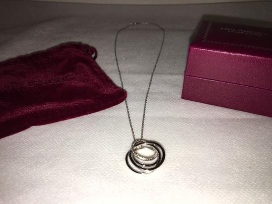 Helzberg Diamonds NWT Helzbert Sterling Silver & Diamond accented CIRCLE Pendant Image 1