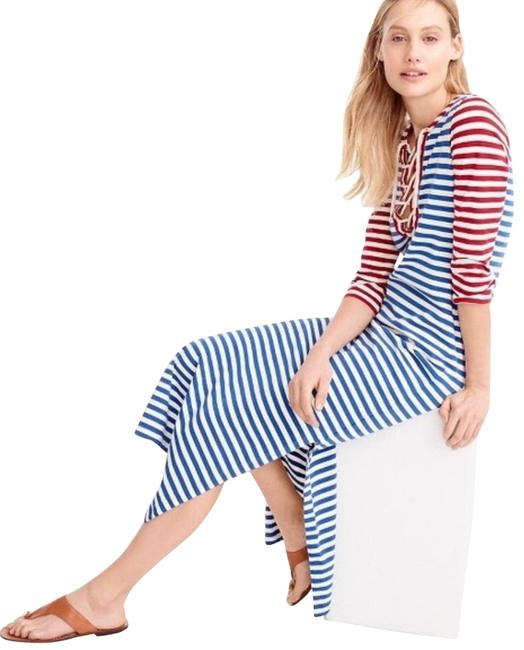 Item - Red White and Blue Nautical Long Casual Maxi Dress Size 2 (XS)