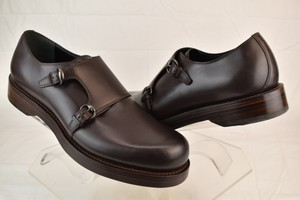 Gucci Brown Cocoa Leather 2x Monk Straps Dress Loafers 12.5 Us 13.5 #358272 Shoes