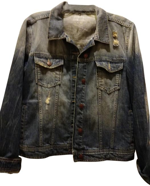 Item - Blue M Basic Distressed Jacket Size 10 (M)