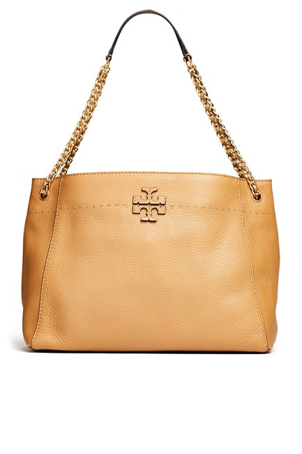 Item - Mcgraw Chain Slouchy Shoulder Tote Camel/Brown Leather Baguette