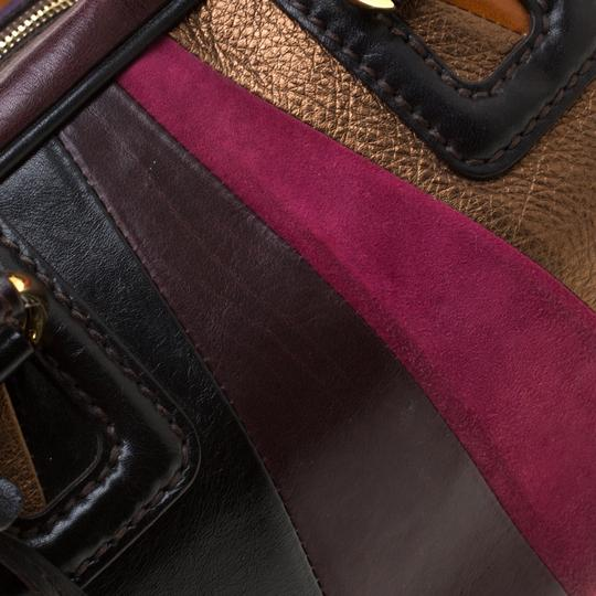 Dolce&Gabbana Leather Studded Suede Satchel in Multicolor Image 10