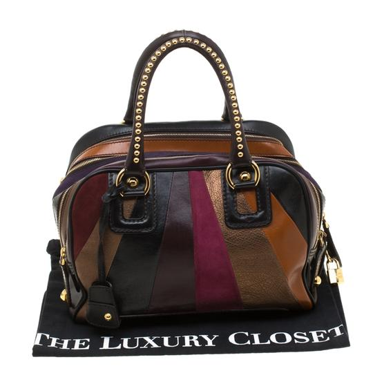 Dolce&Gabbana Leather Studded Suede Satchel in Multicolor Image 11