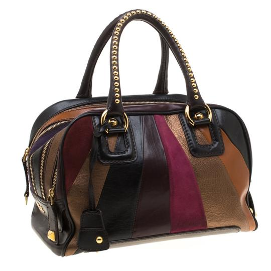 Dolce&Gabbana Leather Studded Suede Satchel in Multicolor Image 3