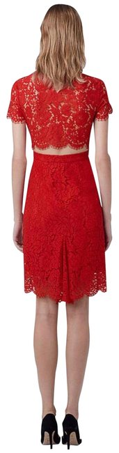 Diane von Furstenberg Red Lace Short Cocktail Dress Size 2 (XS) Diane von Furstenberg Red Lace Short Cocktail Dress Size 2 (XS) Image 1