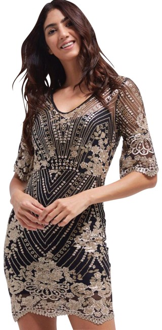 TFNC Sequin Embroidered Needle And Thread Lace Dress Image 0