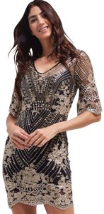 TFNC Sequin Embroidered Needle And Thread Lace Dress