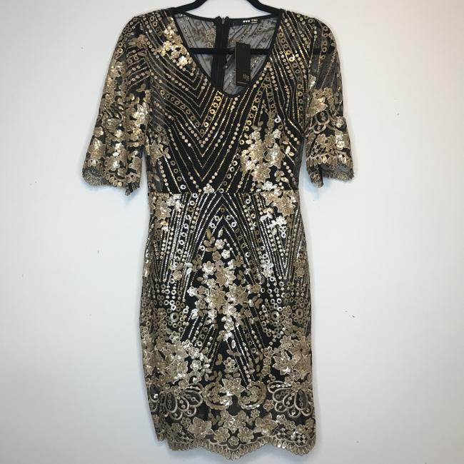 TFNC Sequin Embroidered Needle And Thread Lace Dress Image 3