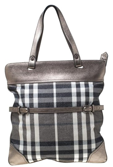 Preload https://img-static.tradesy.com/item/25962457/burberry-beige-beat-check-metallic-canvas-and-leather-tote-0-1-540-540.jpg