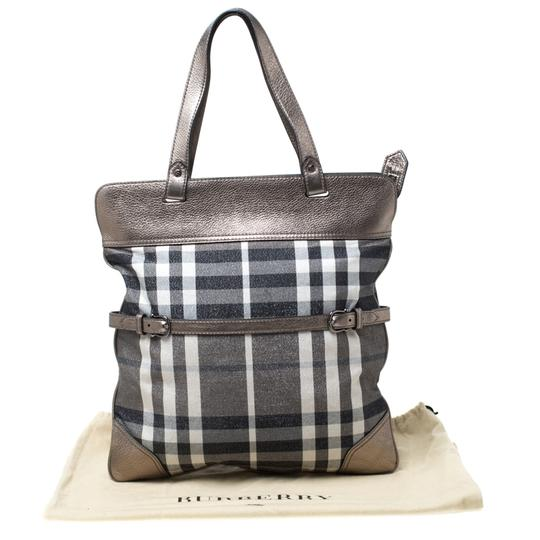 Burberry Canvas Leather Tote in Metallic Image 11