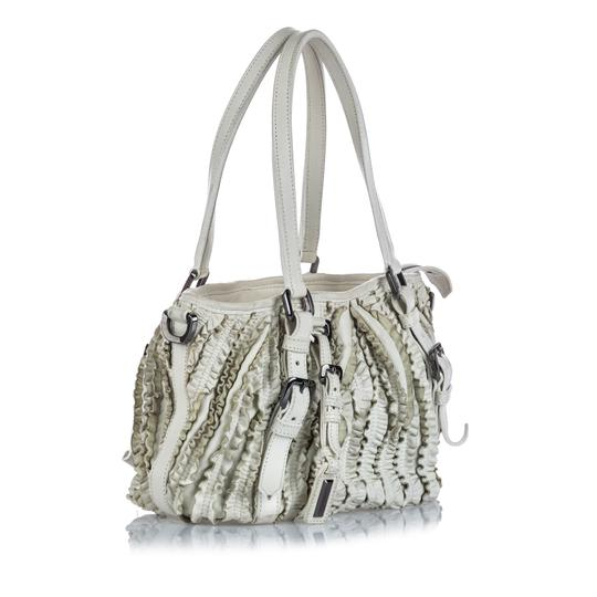 Burberry 9gbust017 Vintage Leather Satchel in White Image 1