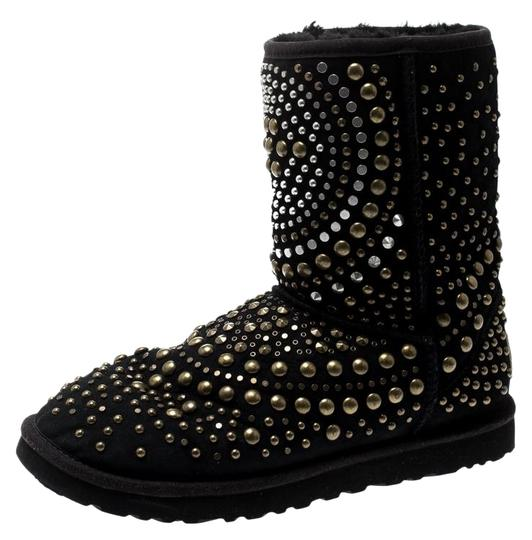 Jimmy Choo Studded Suede Black Boots Image 0