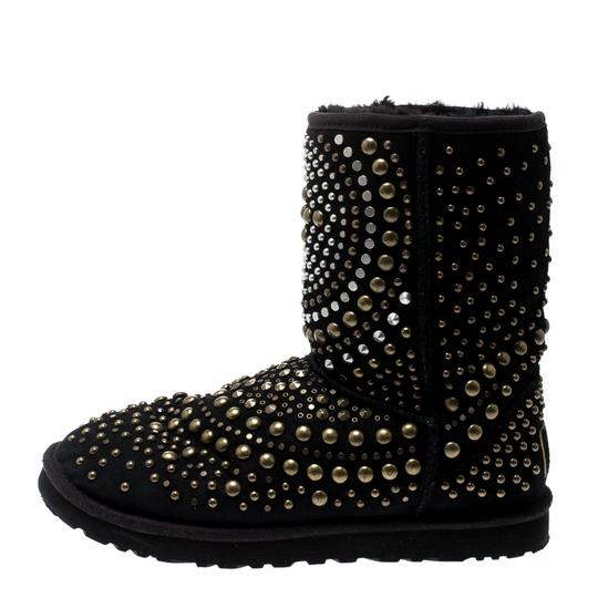 Jimmy Choo Studded Suede Black Boots Image 1