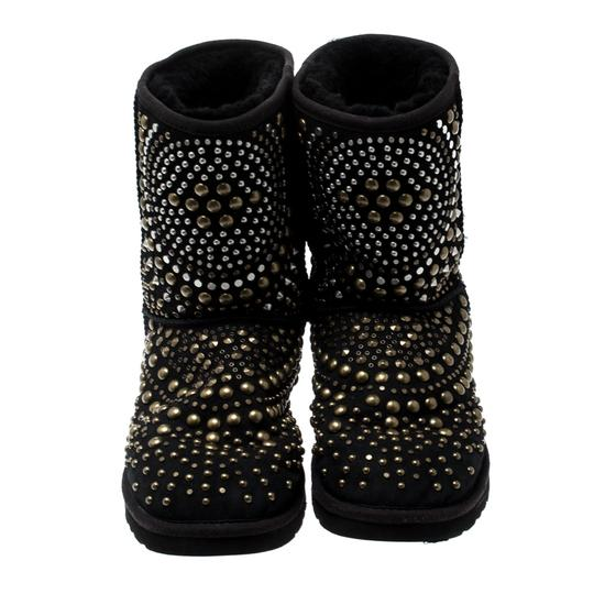 Jimmy Choo Studded Suede Black Boots Image 2