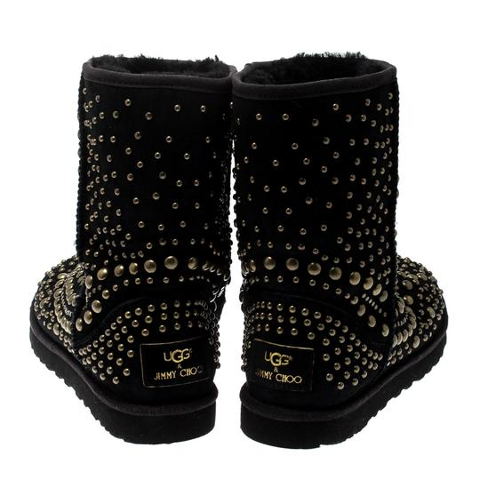 Jimmy Choo Studded Suede Black Boots Image 3
