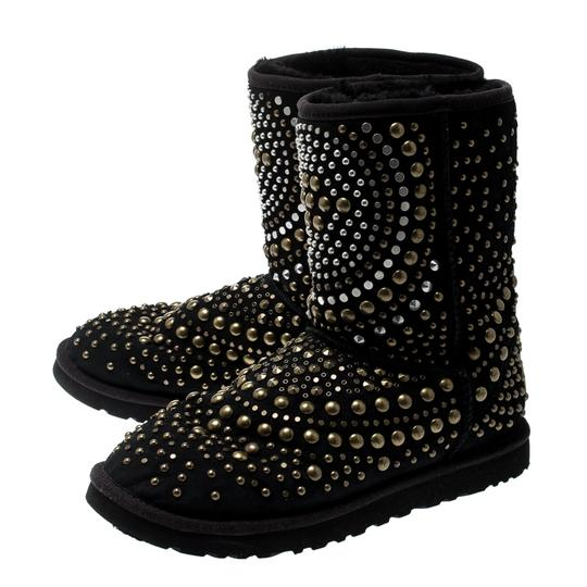 Jimmy Choo Studded Suede Black Boots Image 4
