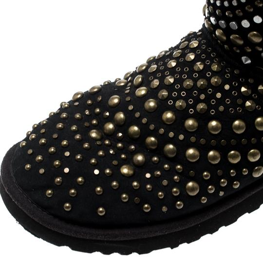 Jimmy Choo Studded Suede Black Boots Image 5