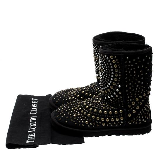 Jimmy Choo Studded Suede Black Boots Image 7