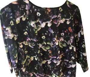 Sam & Lavi Top black with green, white and purple