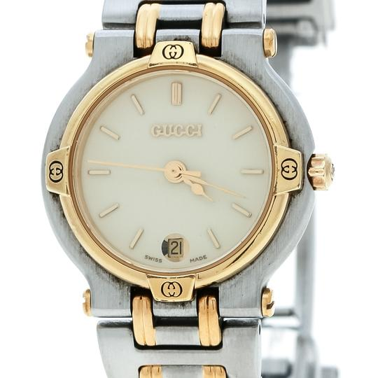 Gucci Cream Two-Tone Stainless Steel 9000L Women's Wristwatch 25 mm Image 1