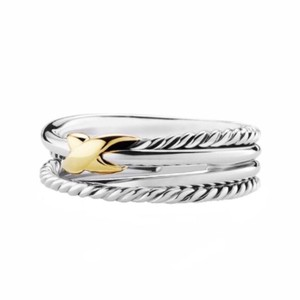 David Yurman David Yurman Gold X Crossover Ring