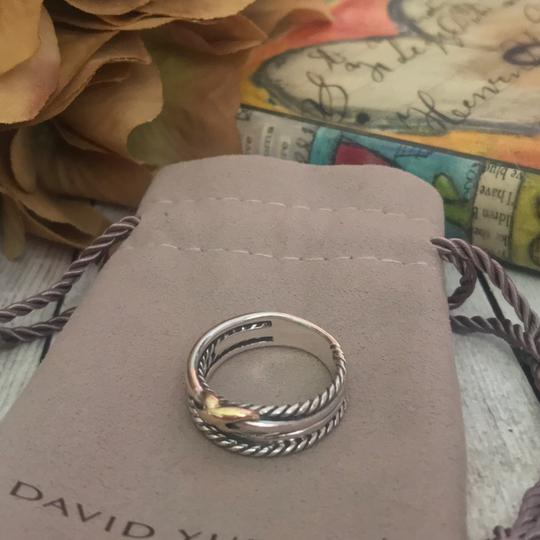 David Yurman David Yurman Gold X Crossover Ring Image 1