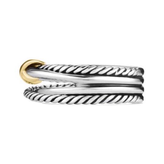 David Yurman David Yurman Gold X Crossover Ring Image 5