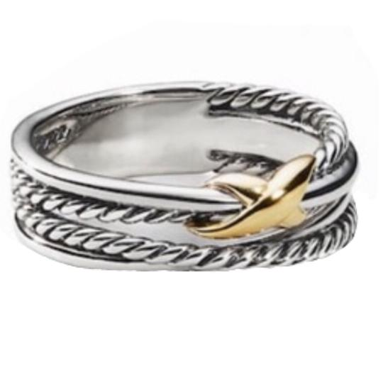 David Yurman David Yurman Gold X Crossover Ring Image 6