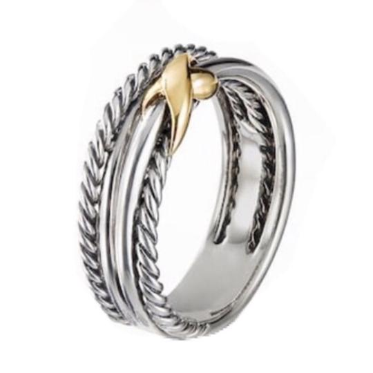 David Yurman David Yurman Gold X Crossover Ring Image 7