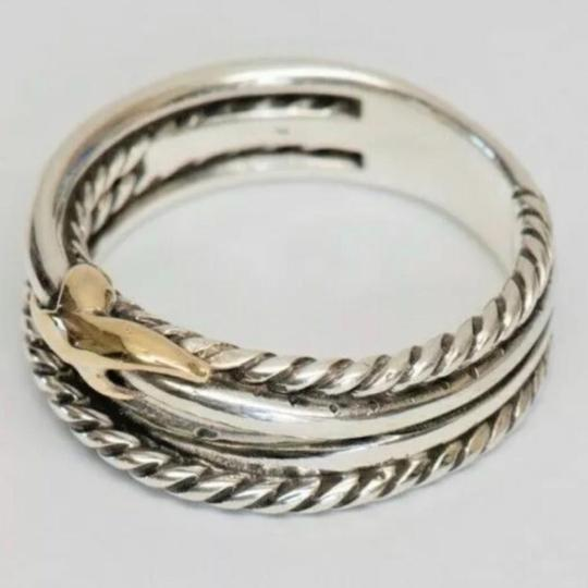 David Yurman David Yurman Gold X Crossover Ring Image 8