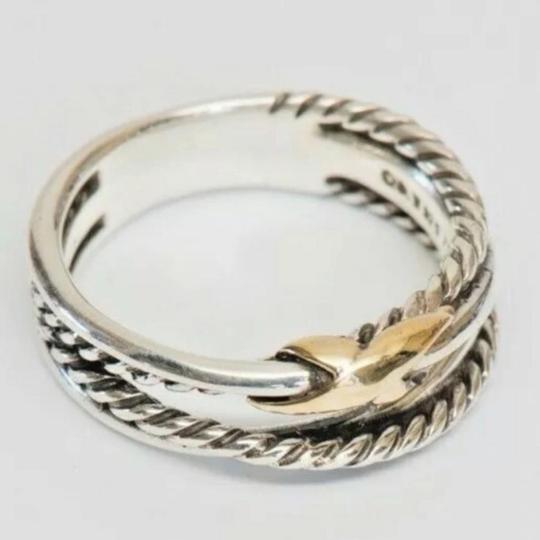 David Yurman David Yurman Gold X Crossover Ring Image 9