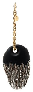 Alexander McQueen Leather Suede Chain Embellished Black Clutch