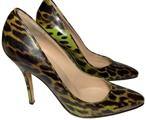 Manolo Blahnik black and green Pumps