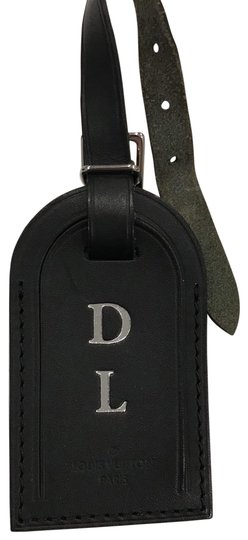 Louis Vuitton luggage tag Monogram Macassar Canvas Bandouliere Keepall Duffle Bag 45 55 Image 0