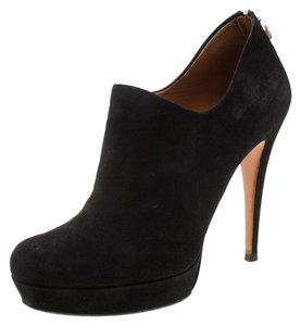 Gucci Suede Bamboo Platform Black Boots