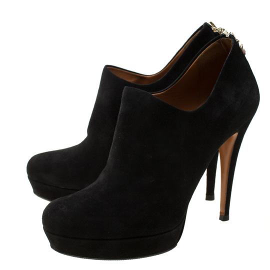 Gucci Suede Bamboo Platform Black Boots Image 3