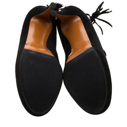 Gucci Suede Bamboo Platform Black Boots Image 5