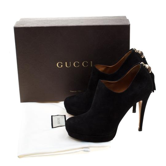 Gucci Suede Bamboo Platform Black Boots Image 7