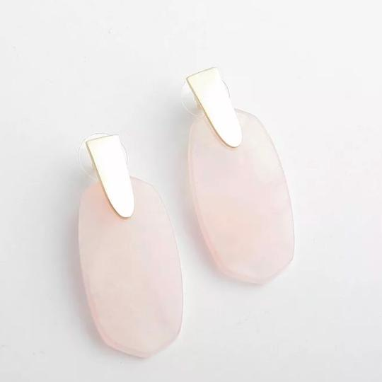 Kendra Scott Kendra Scott Aragon Gold Drop Earrings Rose Quartz Image 1