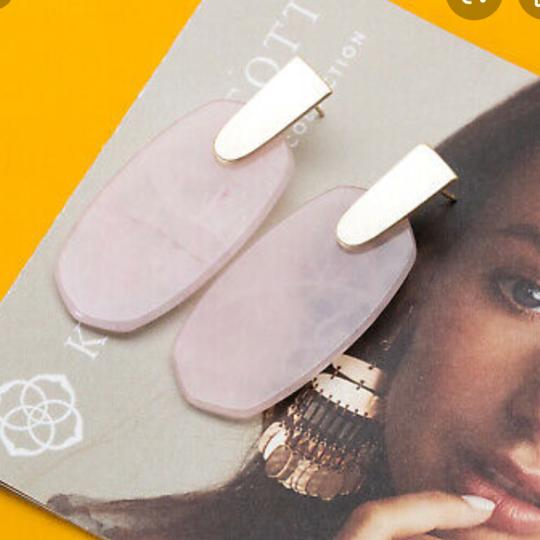 Kendra Scott Kendra Scott Aragon Gold Drop Earrings Rose Quartz Image 3