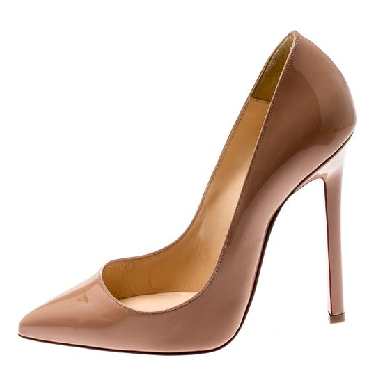 Christian Louboutin Patent Leather Pigalle Beige Pumps Image 1