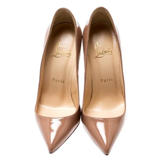 Christian Louboutin Patent Leather Pigalle Beige Pumps Image 2