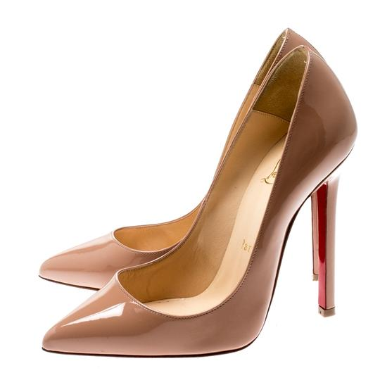 Christian Louboutin Patent Leather Pigalle Beige Pumps Image 3