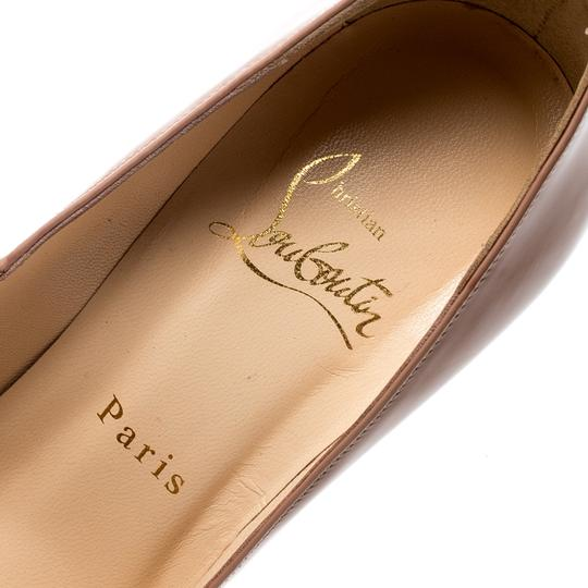 Christian Louboutin Patent Leather Pigalle Beige Pumps Image 6