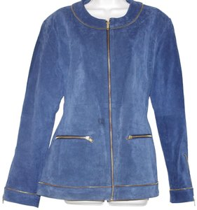 Louis Dell'Olio blue Leather Jacket