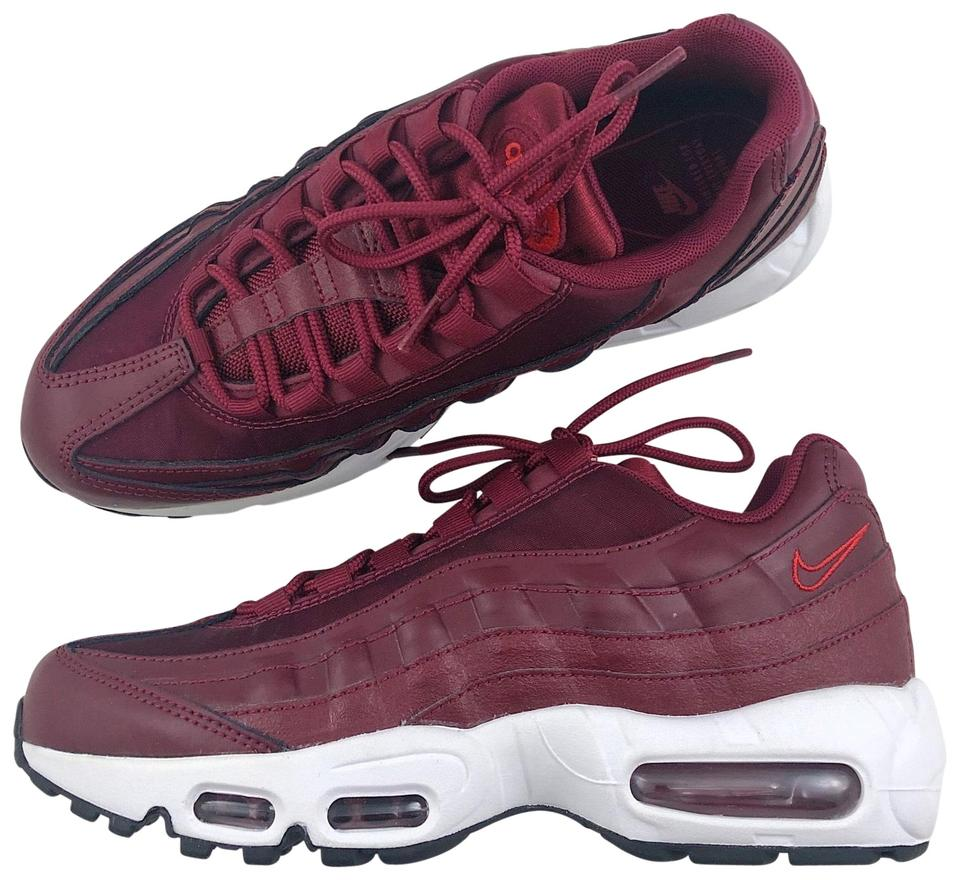 casual shoes watch how to buy Nike Red Women's Air Max 95 Lx Synthetic Leather Mesh Suede And/Or Leather  Upper Provides A Comfortable Fit. Sneakers Size US 7.5 Narrow (Aa, N) 23%  ...