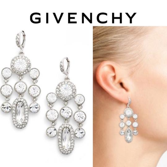 Givenchy Silver Drama Crystal Chandelier Earrings Image 1